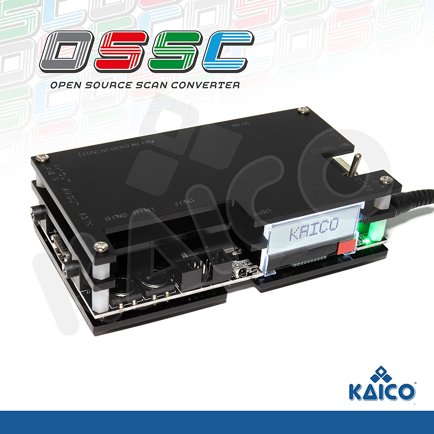 Kaico Edition OSSC Open Source Scan Converter 1.6 with SCART, Component and VGA to HDMI for Retro Gaming. Line Multiplier upscaler Perfect for Zero lag RGB Retro Gaming