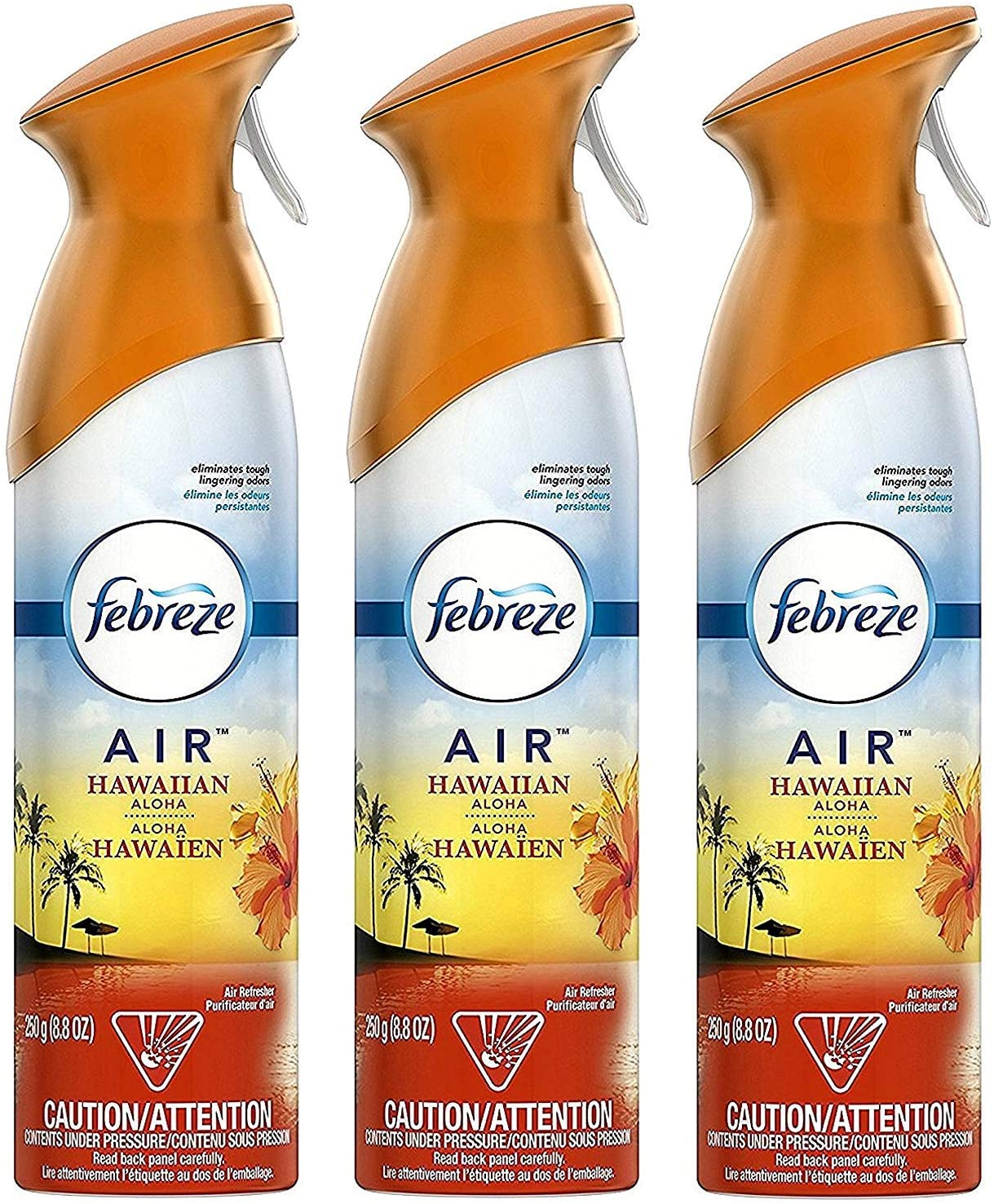 Febreze Air Freshener, Hawaiian Aloha, 8.8 Ounces (Pack of 3)