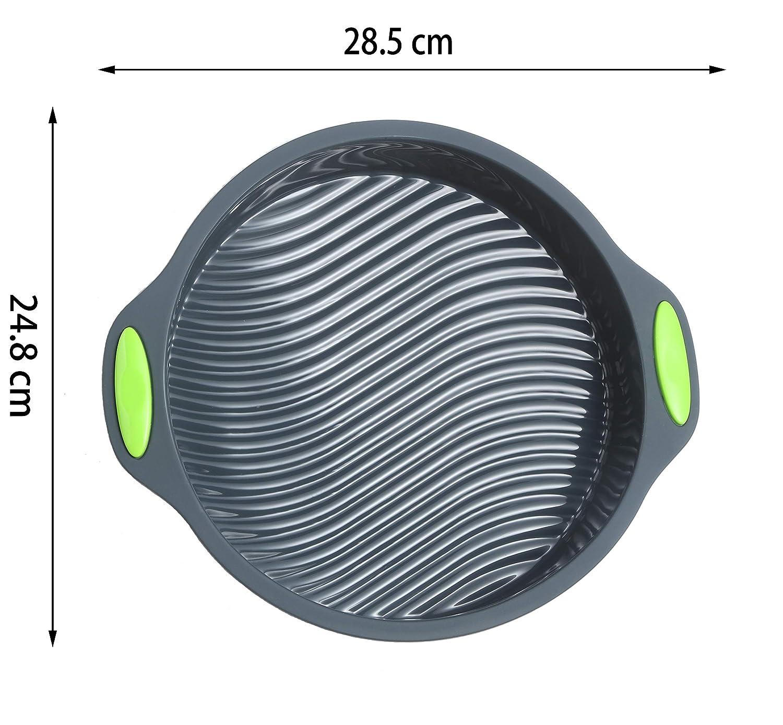 Antihaftbeschichtung Backformen-Set 9 Inch Bread Pan Set of 2 BPA-frei Megrocle Silikon-Kuchenform lebensmittelechtes Silikon rund wiederverwendbar