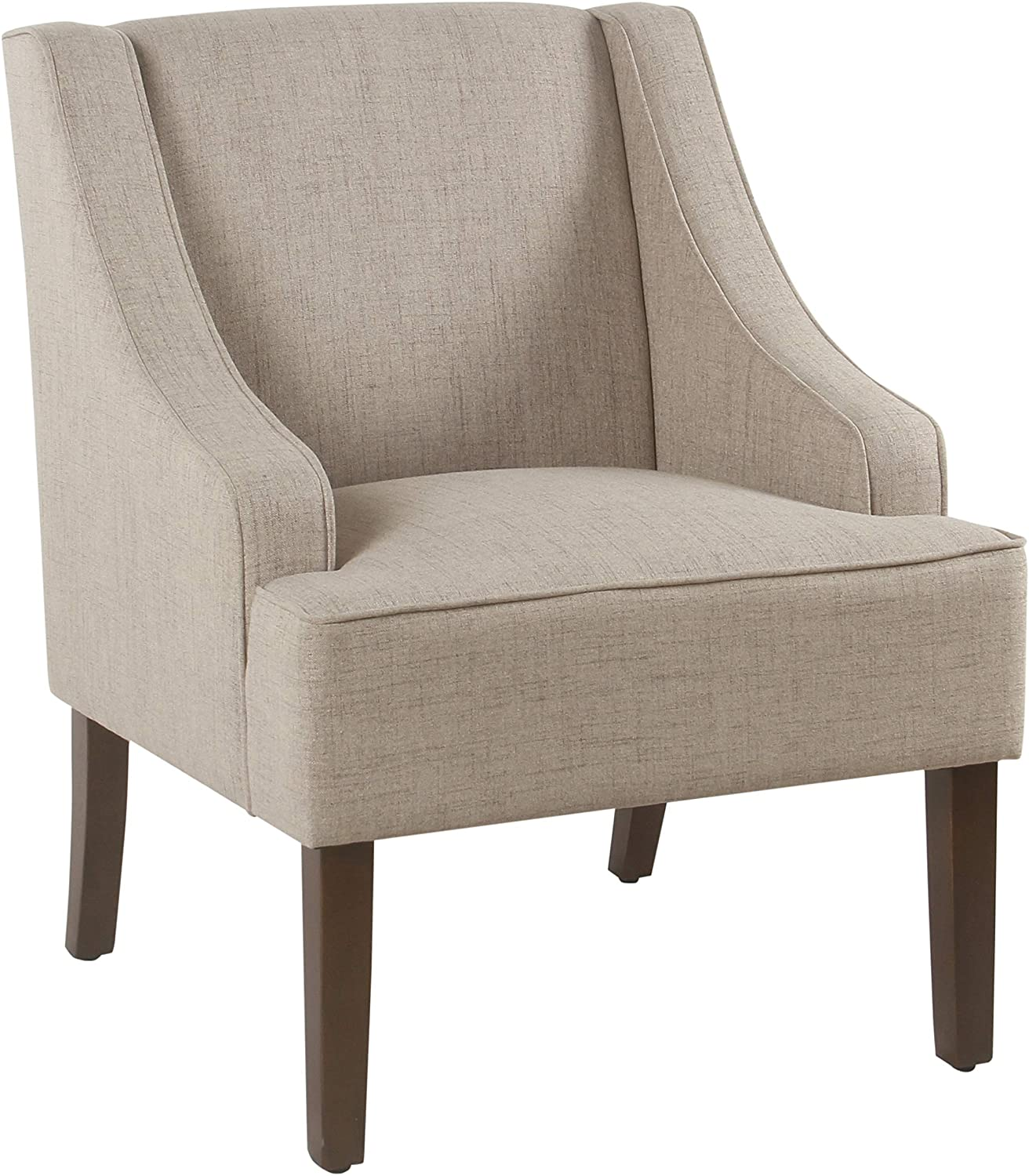 HomePop Classic Swoop Arm Accent Chair, Tan