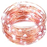 LED Fairy Lights, Oak Leaf 2 Set of USB 60 LED Starry String Lights Copper Wire for Home Bedroom Party Wedding Decoration,19.7ft,Cool White