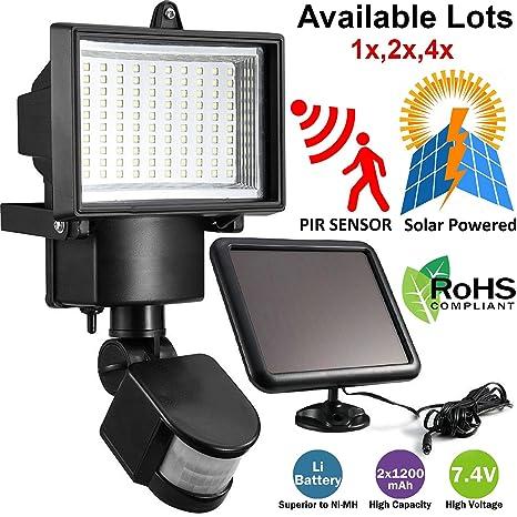 Safekom 100 LED Solar Powered PIR Sensor de Movimiento Luz de inundación de hogar seguridad Floodlight
