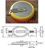 Eunicell Batterie CMOS / Batterie BIOS BR/CR2032-1F2 avec cosses à souder 3V pour PC