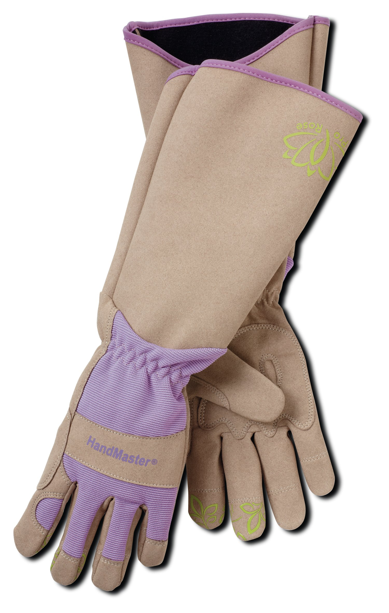 Professional Rose Pruning Thornproof Gardening Gloves with Extra Long Forearm Protection for Women (BE195T-L) - Puncture Resistant, Large (1 Pair)