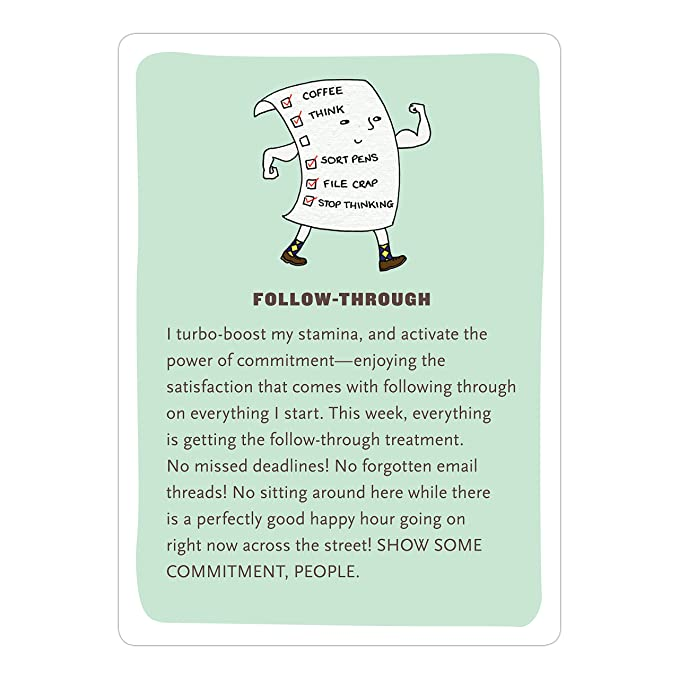 Amazon.com : Affirmators! at Work: 50 Affirmation Cards to Help You Help Yourself - without the Self-Helpy-Ness! : Office Products