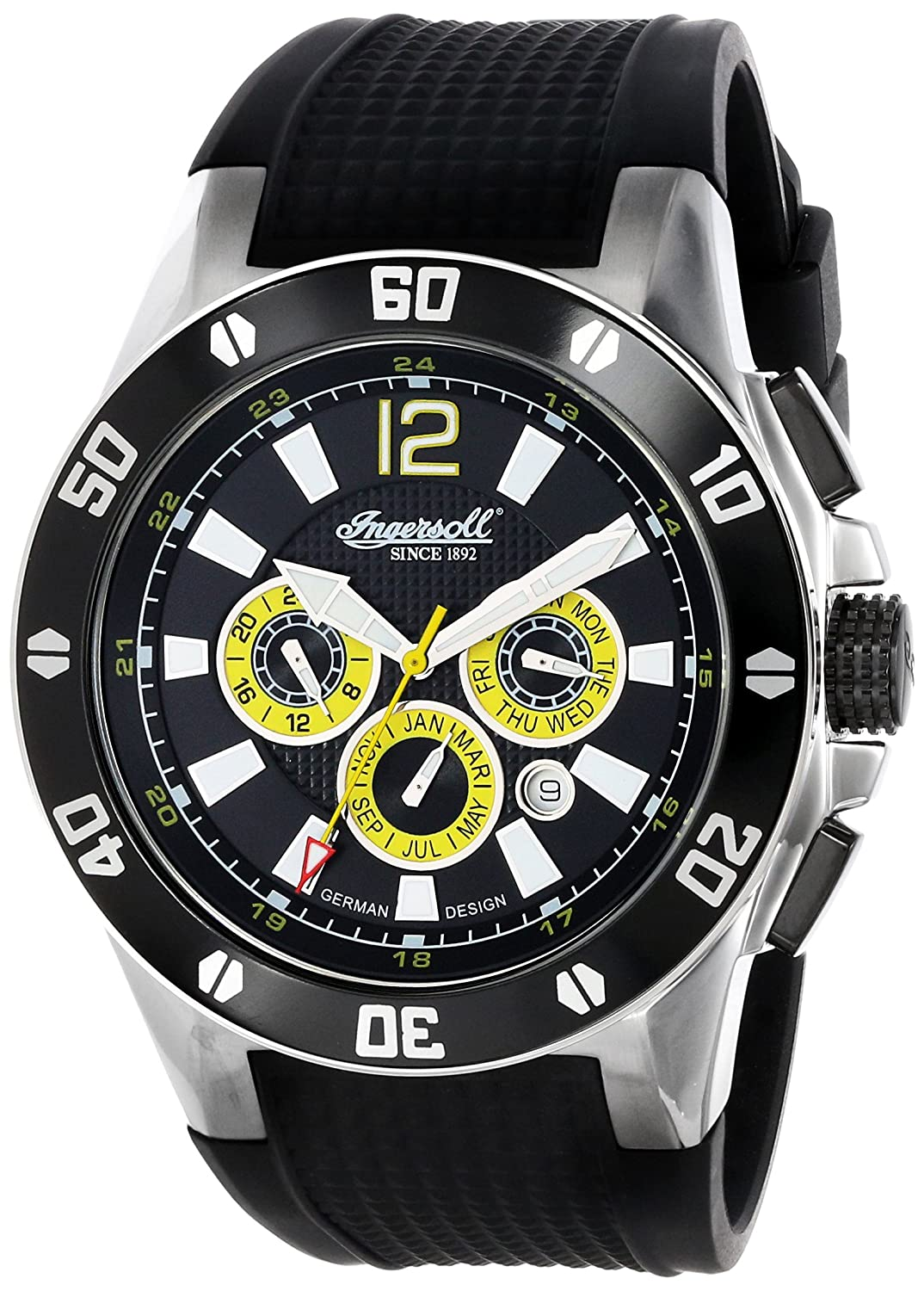 Amazon.com: Ingersoll Mens IN3221BK Brazos Analog Display Automatic Self Wind Black Watch: Watches