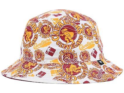 Cleveland Cavaliers NBA Bravado  47 All-Over Print Bucket Hat (Small Medium bb00265ad0d