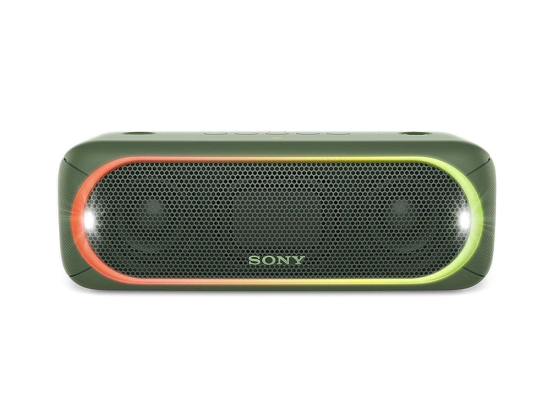 Sony SRS-XB30 Tragbarer Lautsprecher (Farbige Lichtleiste ...