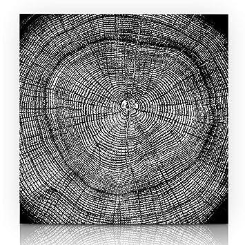 Amazon Com Ahawoso Canvas Print Wall Art 12x16 Inch Floral Black