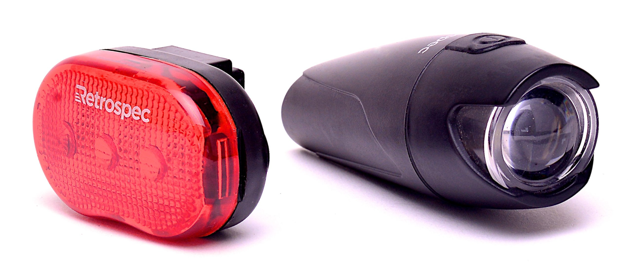Retrospec Bicycles Authentic Nichia Extreme LED Headlight and Venice-3 LED Taillight with Articulating Mount Headlight and Taillight Combo