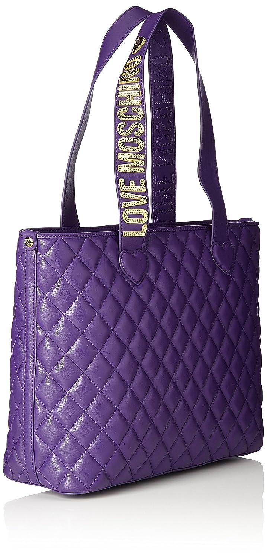 Borsa Nappa Pu Trapuntata Viola, Womens Satchel, Violett (Violet), 28x43x12 cm (B x H T) Love Moschino