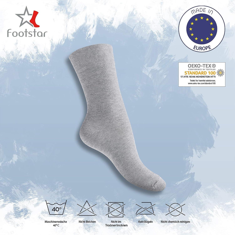 Footstar! algod/ón mujeres EVERYDAY 10 pares de calcetines calcetines negro baya blanco amarillo calcetines hombres