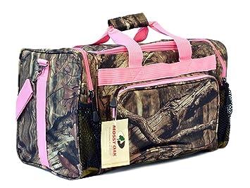 Amazon.com: KC Caps Womens Pink Camo Duffel Duffle Gear Sport Gym ...