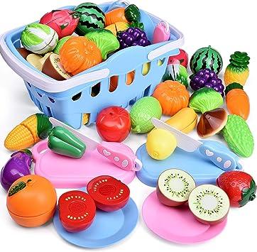 Amazon.com: Funlittletoys - 53 piezas de comida para niños ...