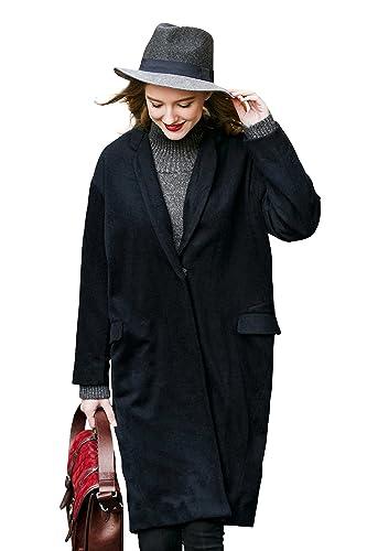 You.U Collar entallado con escote largo de mujer suelto apto para el otoño de primavera