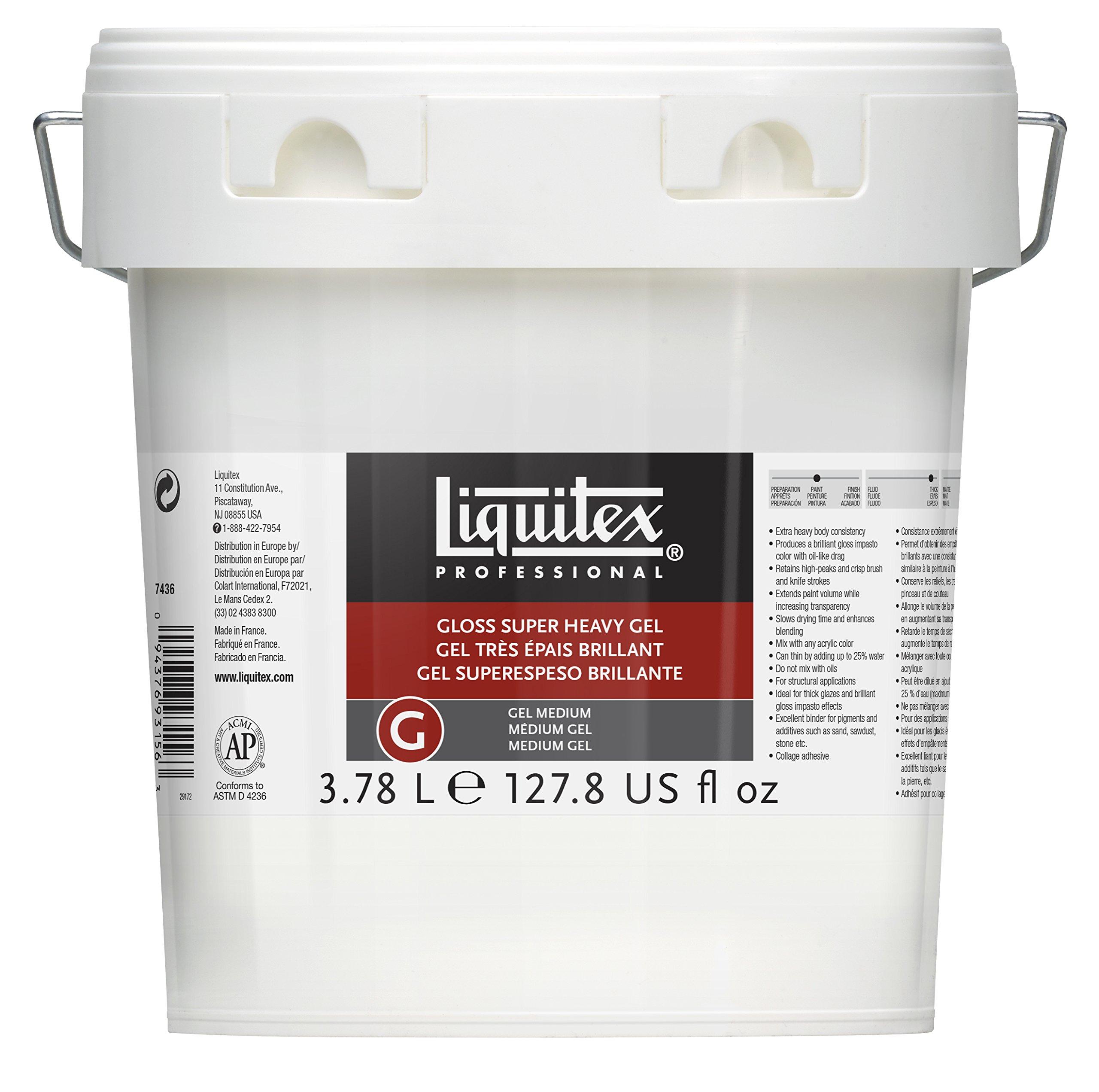 Liquitex 7436 Professional Gloss Super Heavy Gel Medium, 128-oz (Gallon)
