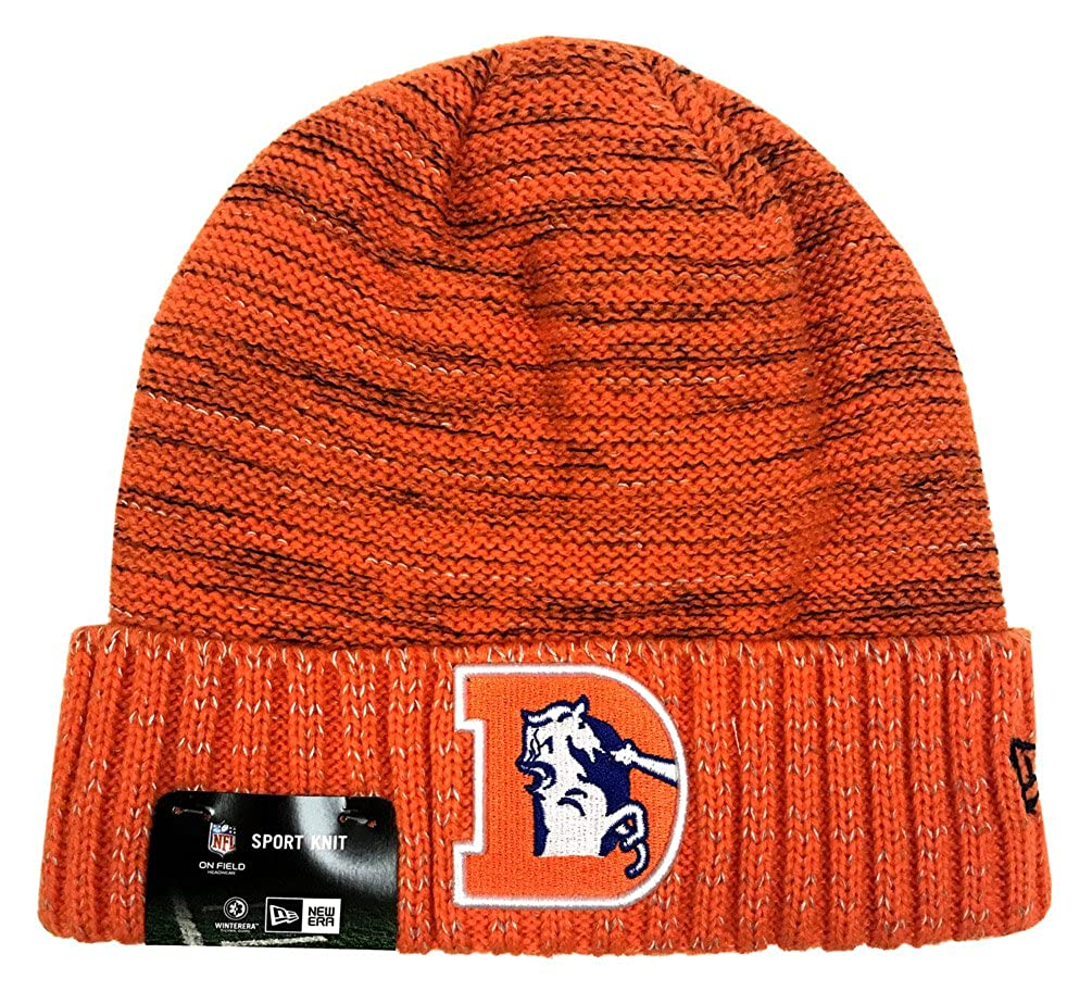 more photos 6cfe8 9faf4 Amazon.com  New Era Denver Broncos Knit Beanie Cap Hat NFL 2017 Color Rush  11461041  Clothing
