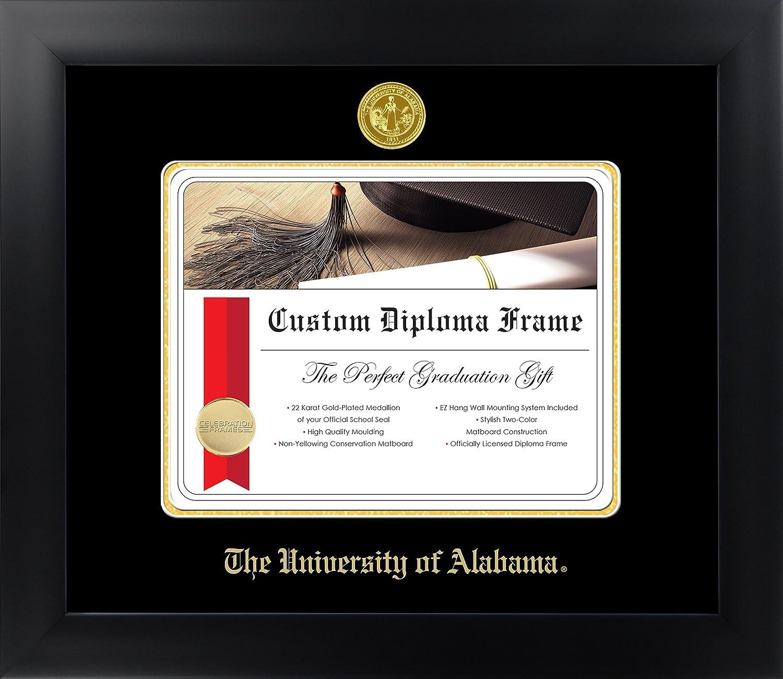 Tuscaloosa 8/½ x 11 Matte Black Finish Infinity Diploma Frame Celebration Frames The University of Alabama