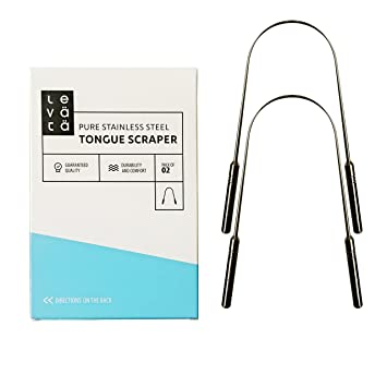 Premium Tongue Scraper Cleaner Pack of 2 | Get Rid of Bad Breath, Morning  Breath and Bacteria