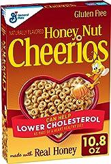 Honey Nut Cheerios, Breakfast Cereal with Oats, Gluten Free, 10.8 oz