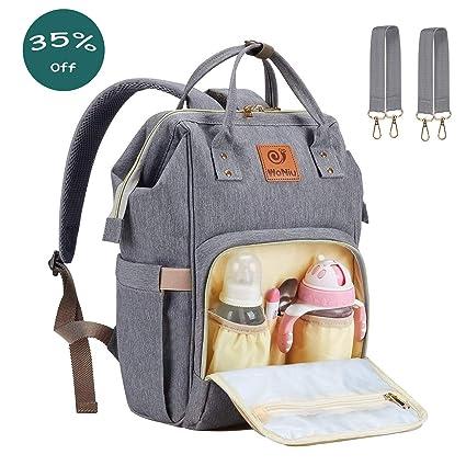 Mochila de viaje del bolso del pañal del bebé - Joven Mochila del pañal con multifuncional Tejido ...