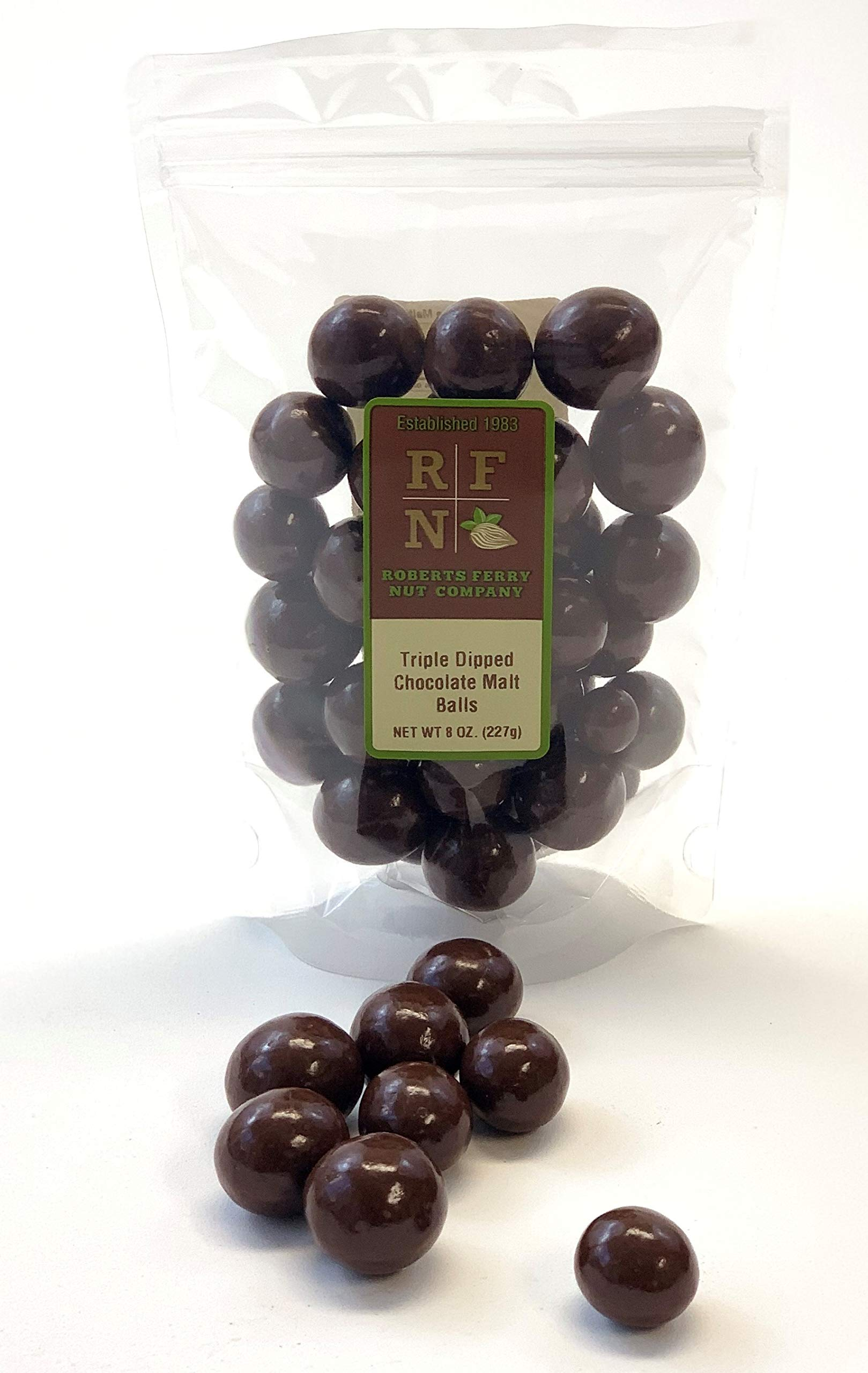 Roberts Ferry Nut Co. Triple-Dipped Milk Chocolate Malt Balls, 8 oz (Pack of 24)