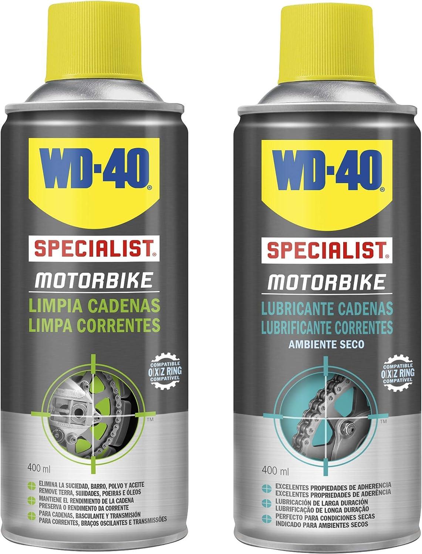 WD-40 Specialist Motorbike - Lote para cuidado y mantenimiento de ...