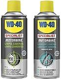 WD-40 Specialist Motorbike - Lote para cuidado y mantenimiento de cadena moto con Spray Limpiacadenas 400Ml + Lubricante…