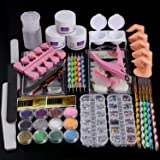Cooserry 46 in 1 Acrylic Nail Kit Set Professional With Everything - 12 Glitter Acrylic Powder Nail Rhinestones…