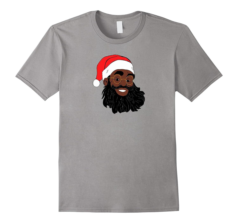 African American Santa Claus Christmas T Shirt-ANZ