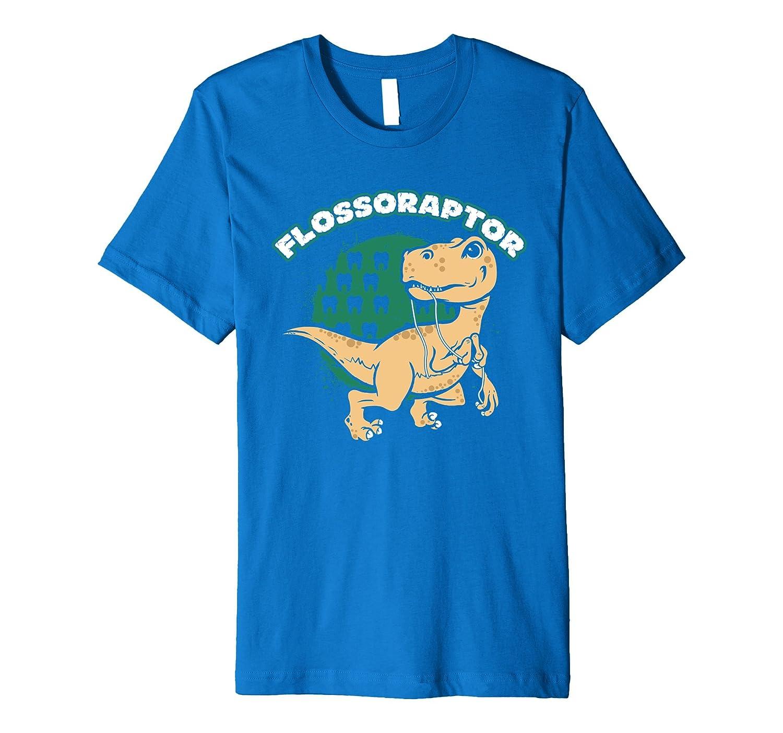 Flossoraptor Funny Dental T-Shirt Graphic PREMIUM-FL