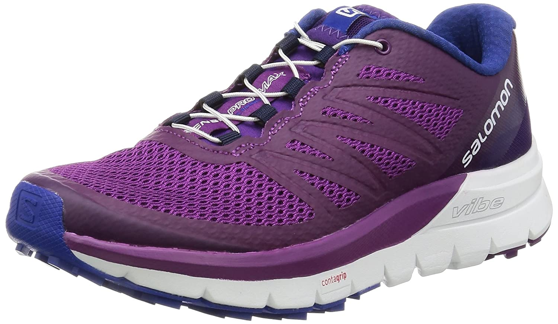 Salomon Women's Sense Pro Max Manmade, Mesh Trail Running Sneakers B01HD21IUS 8.5 B(M) US|Grape Juice, White, Surf the Web