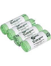 100 x 10 L luxtons biodegradables trazadores de líneas de - 10 litros de alimentos para cocina Degradable de la basura trazadores de líneas de - EN 13432 - bolsas de basura - con todos los-verde guía
