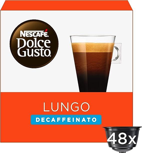 NESCAFÉ Dolce Gusto Café Lungo Descafeinado, Pack de 3 x 16 ...