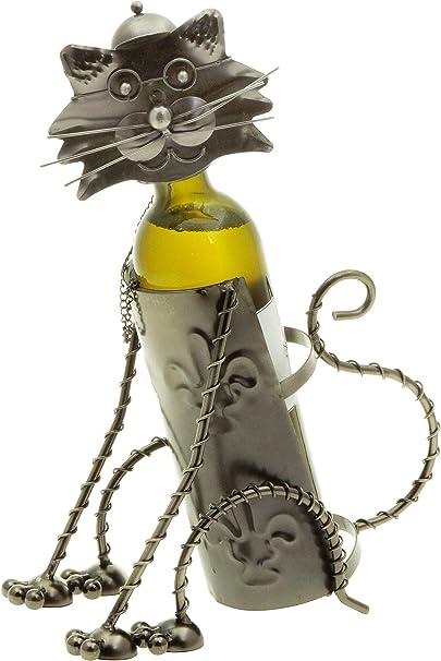H-LINE hLine - Portabidón para Botellas de Vino, diseño de Gato: Amazon.es: Hogar
