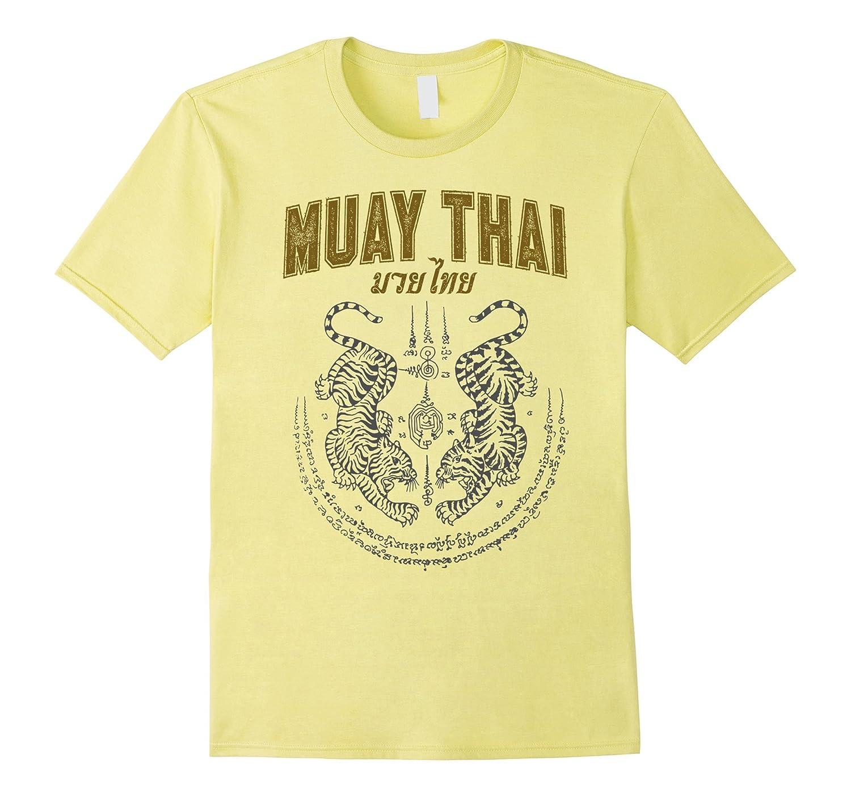 6aab3cf5b384b Twin Tiger Sak Yant Muay Thai T-Shirt-TH - TEEHELEN