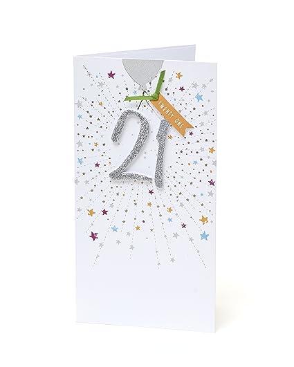 Carlton 294522-0-1 - Tarjeta de felicitación de 21 ...