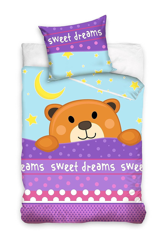 Babybow Baby Bettwä sche 100x135cm Kinderbettwä sche Teddybä r 16-3000 Euromat 5902385218115