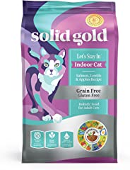 Solid Gold - Let's Stay In - Grain-Free - Indoor Formula Dry Cat Food with Superfoods - Hairball Control - Protected Probioti