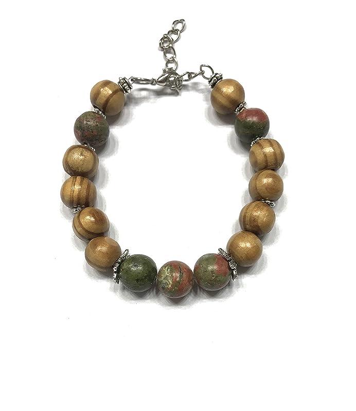 Chain Bracelet Single Stone Bracelet Unakite Bracelet Indian Fashion Bracelet AJB-0080 Daily Wear Bracelet Handmade Bracelet