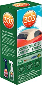 303 (30520) Convertible Fabric Top Cleaning and Care Kit - Cleans And Protects Fabric Tops - Includes 303 Tonneau Cover And Convertible Top Cleaner + 303 Fabric Guard