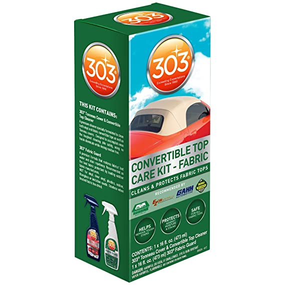 Amazon.com: 303 (30520) Convertible Fabric Top Cleaning And Care Kit:  Automotive