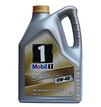 Mobil 1 151053 New Life 0W-40 Aceites de Motor para Coches 5 litros