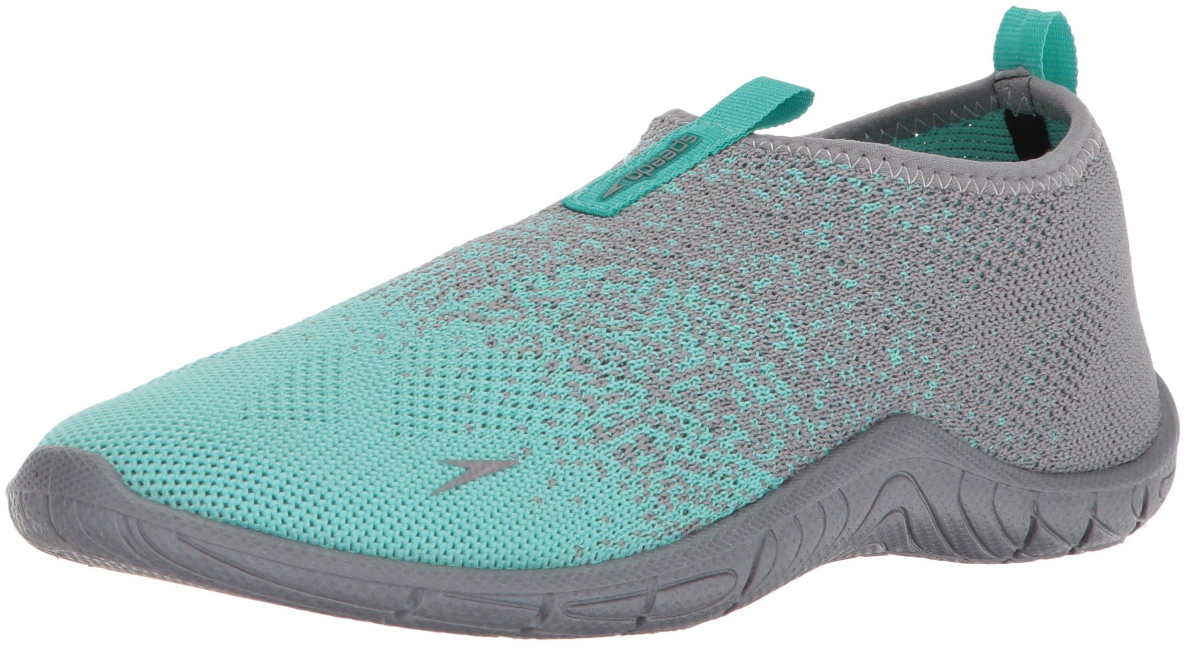 Speedo Women's Surf Knit Water Shoe, Frost Grey, 7 C/D US
