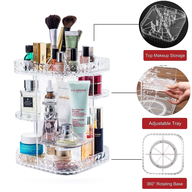 Amazon.com: Organizador de maquillaje de 360 grados ...
