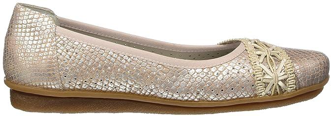 Rieker Damen 43956 Geschlossene Ballerinas, Mehrfarbig (Rose-Silver/Rose-Silver/31), 40 EU