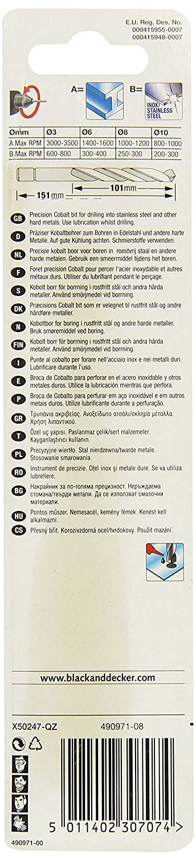 1 St/ück X50077 Piranha HSS-E Kobalt Hi-Tech Metallbohrer f/ür alle Metallarten, 2,5 mm Bohrdurchmesser, 57 mm Gesamtl/änge