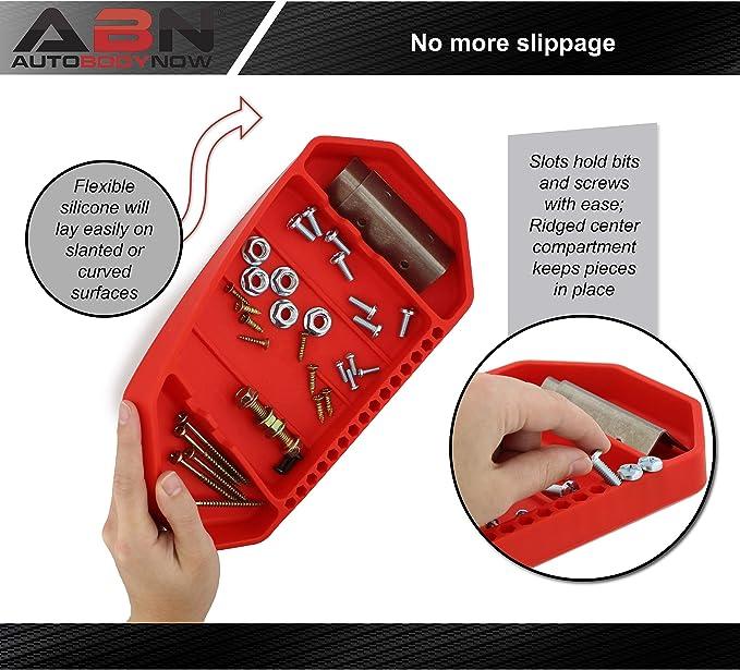 ABN Flexible Werkzeugablage 26,7 x 14 cm Silikon-Gummi-Werkzeug-Organizer rutschfeste Werkzeug-Halterung f/ür die Organisation von Teilen
