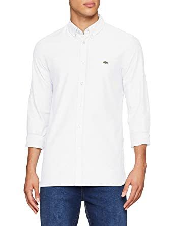 eabda0bcfea Lacoste CH0763 Chemise habillée Homme Blanc (Blanc 001) Medium (Taille  Fabricant 39