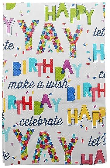 Amazon.com: Feliz Cumpleaños celebrar franela parte trasera ...